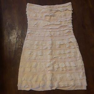 Express Pale Pink Strapless Dress Size XS